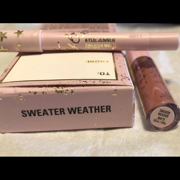 Kylie -SWEATER WEATHER Mini Liquid Lipstick &Liner